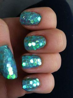 mermaid scale nails - Nail Art @Hannah Mestel Mestel Mestel Mestel B.