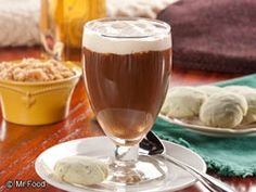 This classic recipe for Irish coffee comes direct from Limerick, Ireland, where it was created by Chef Joe Sheridan in 1942 in an airport terminal that passengers passed through on their way to and from North America.  Read more at http://www.mrfood.com/Hot-Beverages/Traditional-Irish-Coffee#zVsQ2d2pMVUwi4Vq.99