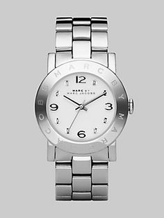 Marc by Marc Jacobs Amy Link Bracelet Watch/Silver
