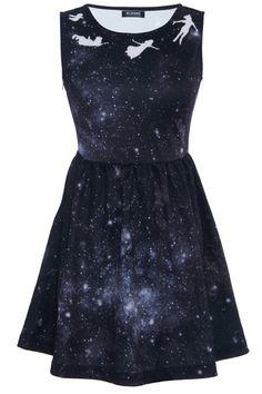 peter pan galaxy print dress.