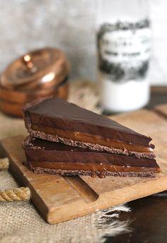 {Chocolate caramel tart.}