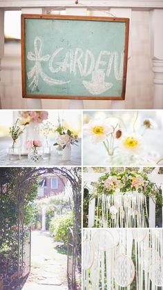 Jardim de flores e rendas