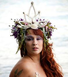 Pearl Sea Nymph Mermaid Headdress