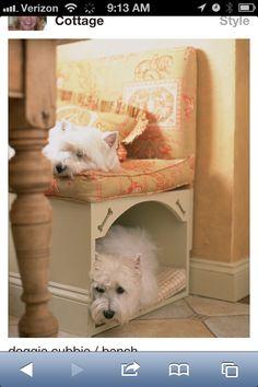 Cute dog bed idea
