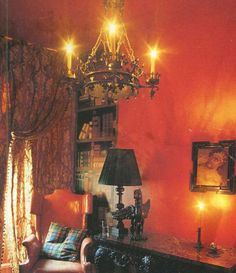 chandelier and color of wall , I love