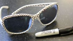 Personalize sunglasses with sharpies