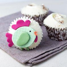 cute chicken cupcake