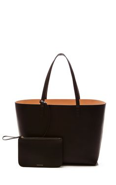 Large Tote In Black With Ballerina Interior by Mansur Gavriel for Preorder on Moda Operandi