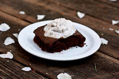 Gluten Free Brownies with Dairy Free Whipped Cream - The Kitchen Rag