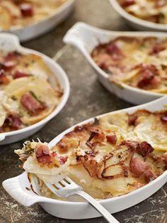 Ham and Potato Gratins