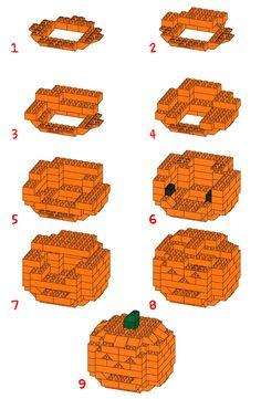 Make a LEGO Jack-o-Lantern