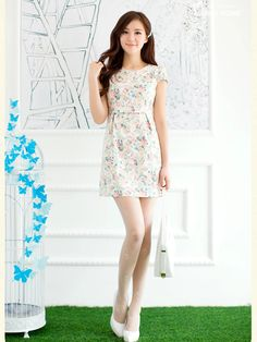 retro rose slim dress $51 #asianicandy