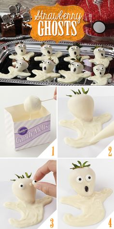 Be a fantastic ghostess with a tray of candy-covered strawberries! @partycity