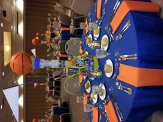 This was taken at a basketball themed Bar Mitzvah. The colors really stand out