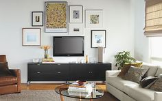 Wall Art and Media Collage - 10 Ways to Decorate your Walls - Room & Board