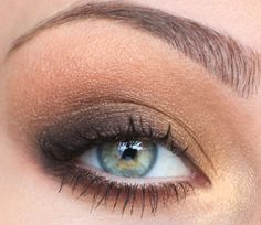 copper/brown smokey eye