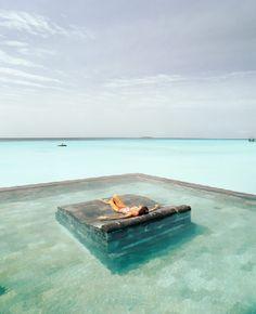 Pool Lounging, The Maldives Islands