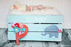 so cute! DIY toy box