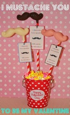 Holiday Sparkle: I Mustache U to Be Mine easy Valentine treats