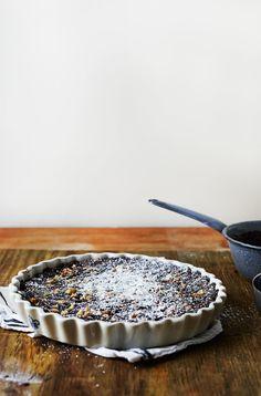 brownie ganache tart