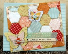 gorgeous quilt inspired card