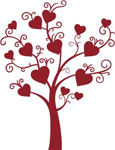 svg wedding cards, hero arts, silhouett cameo, trees, heart template, inki finger, silhouette cameo, heart tree, heart designs
