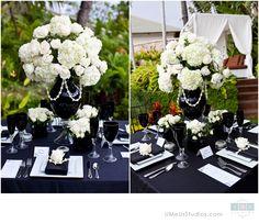 Black and white wedding decor -  www.umeusstudios.com