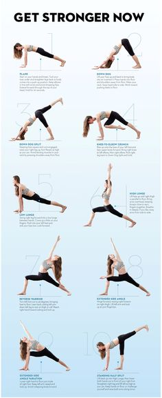 Do Tara's routine four times a week for a total-body, fat-blasting workout. Hold each pose for five breaths, unless otherwise noted. When you finish the sequence on the right side, repeat on your left.