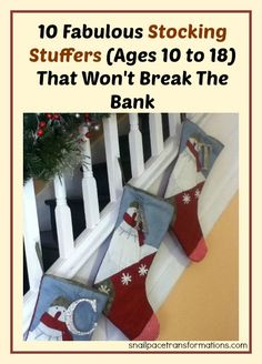 Ideas for filling a preteen and teenage Christmas stocking for less.