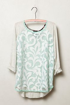 Filigree Lace Top #anthropologie