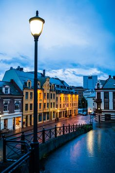 Alesund at dusk, Norway