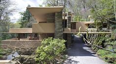 """A less popular view of """"Falling Water"""" by Frank Lloyd Wright"""