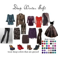 """Deep Winter Soft"" by expressingyourtruth on Polyvore"
