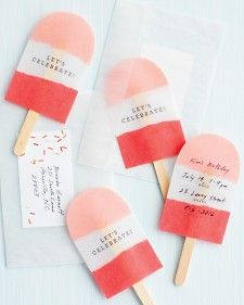 DIY: ice pop invites for a Summer party!