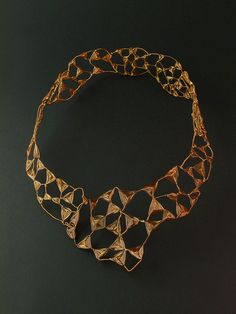 Necklace | Lena Franolić. Copper and brass wire