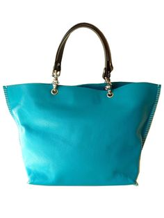 Gamidi blue leather tote - great everyday bag