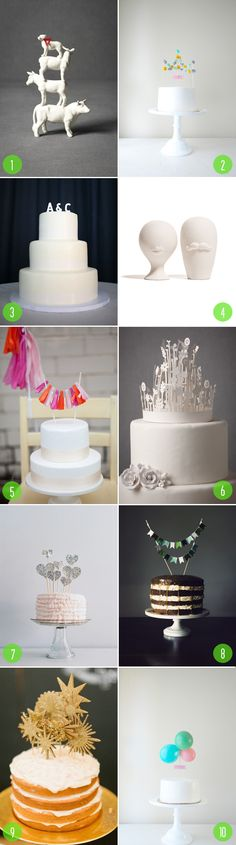 modern cake toppers