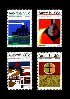 Universal Postal Union stamp / John Copeland / 1974