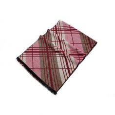 Buy fashion mens stripe print cashmere scarf red 180cm*32cm MES0014