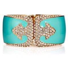 Check out this item at One Kings Lane! Gold Plate Deco Bracelet, Ocean Blue
