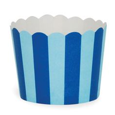 Paper Baking Cups: Navy Blue Stripes