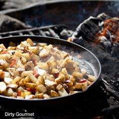 Campfire Recipes Your Family Probably Hasnt Tried Yet  Note:  Personal Pizzas using English Muffins recipe - we used to love these at home growing up