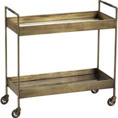 Libations Bar Cart in Accent Tables | Crate and Barrel