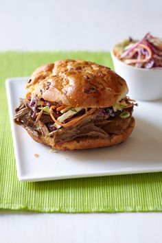 Slow Cooker BBQ Beef Brisket from familycircle.com #myplate #slowcooker #beef