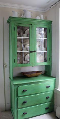 DIY:: Amazing Old Cupboard redo ! Beautiful & Budget !