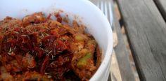 Paleo Sundried Tomato Pesto Pasta (plus a cooking video!)
