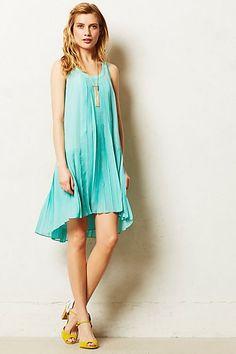 flutter mint, dress anthropologi, mint dress