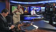 Monica prepares for a newscast