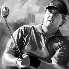 Phil Mickelson. #Canvas #Painting #Golf #Art