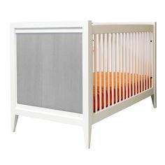 Casey Crib in White with Distressed Gray Panels - #PNshop